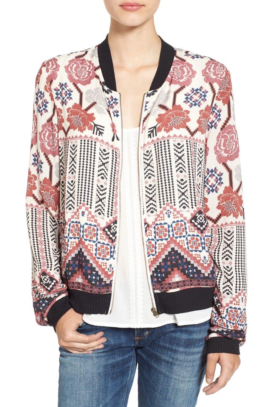 $49.00 - Chloe & Katie Print Bomber Jacket
