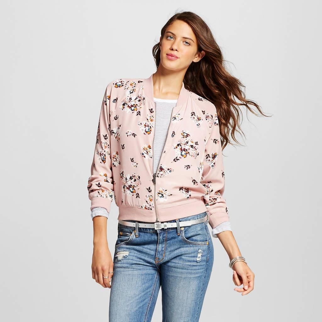 $29.99 (Now on Sale) $23.99 Women's Lace Bomber Jacket - Xhilaration™(Juniors')