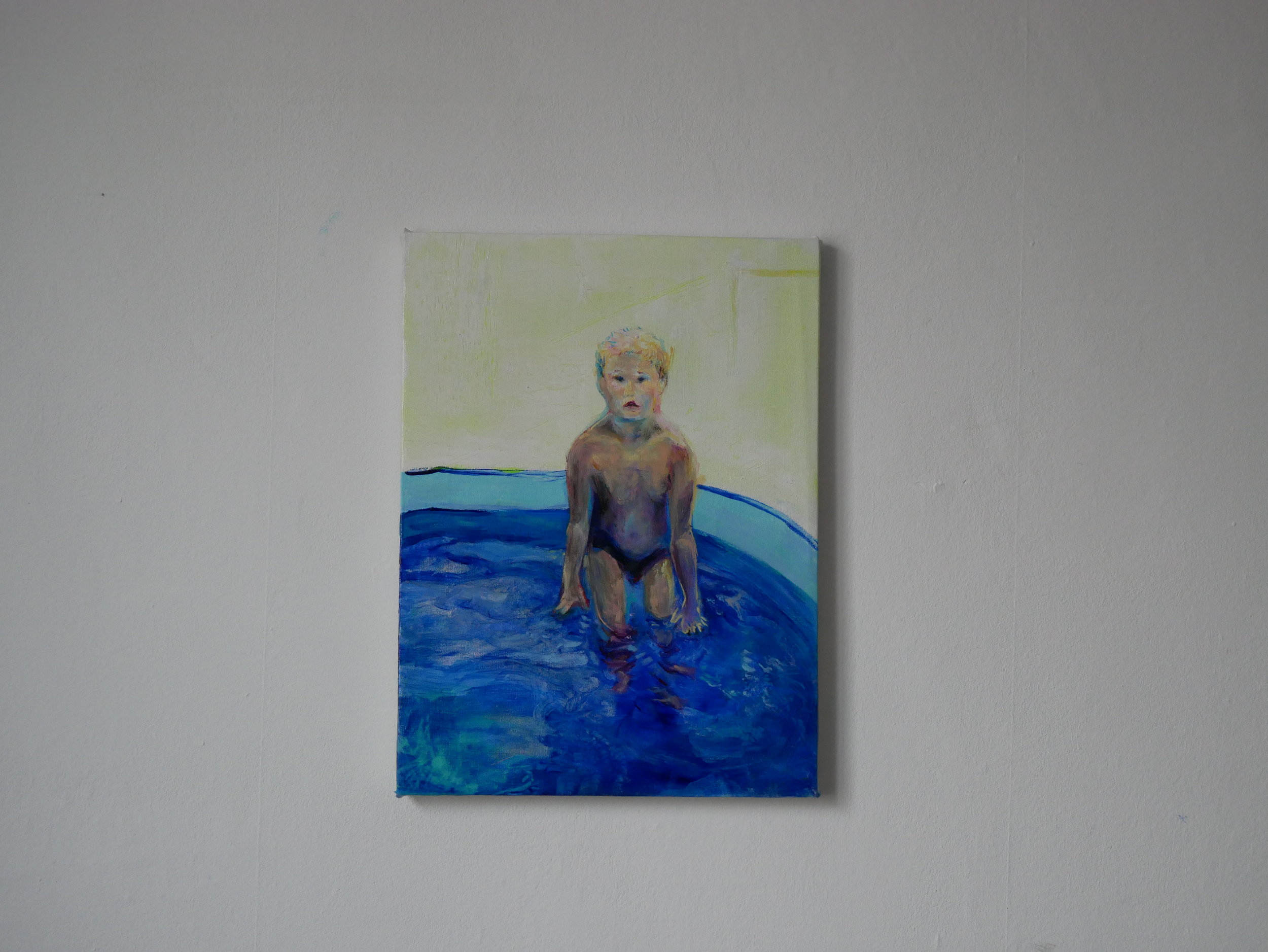 Studie of Aquatic Ape 3 . Oil on canvas. 40 x 30 cm