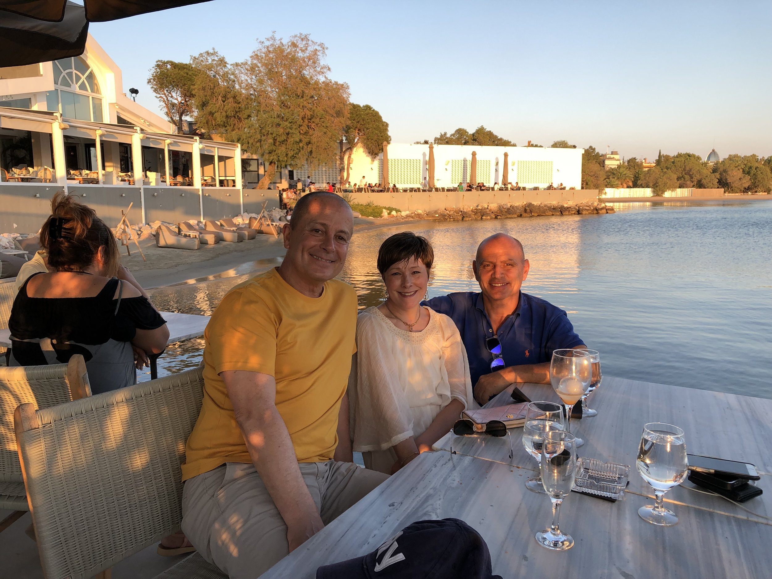 Michel King, Cecile Bankston, and Malcolm Muirhead in Greece