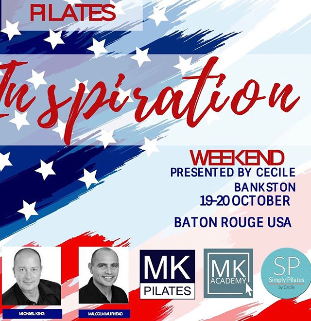 Great opportunity for continuing education with world renowned instructors right here in Baton Rouge!! 850-502-7701 or cecile@mkpilates.com