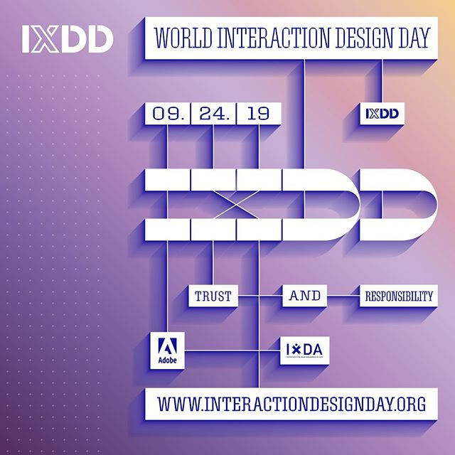 "World Interaction Design Day is coming up on September 24th! It's a day where we come together as a united global community to show how interaction design improves the human condition.  This year's theme is ""Trust & Responsibility"" which are cornerstone principles I try to incorporate in my life to build quality relationships. Staying authentic, upfront, and dependable is what I strive to accomplish daily in my work.  Register now at the link in my bio to learn more about this theme and attend an #IxDD event near you on September 24!  #AdobePartner"