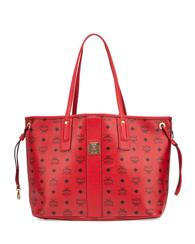 MCM Liz Reversible Medium Red Bag