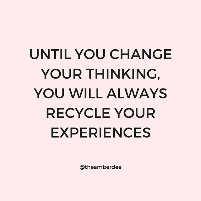 You can't overcome some of your experiences by having the same actions. 🎯 When working on better outcomes, a mindset shift is a must! For example, instead of things happening to you, reprogram your mind to think that it's possibly happening for you. 🧐 You will immediately do something different with a different outcome. Feel me?!