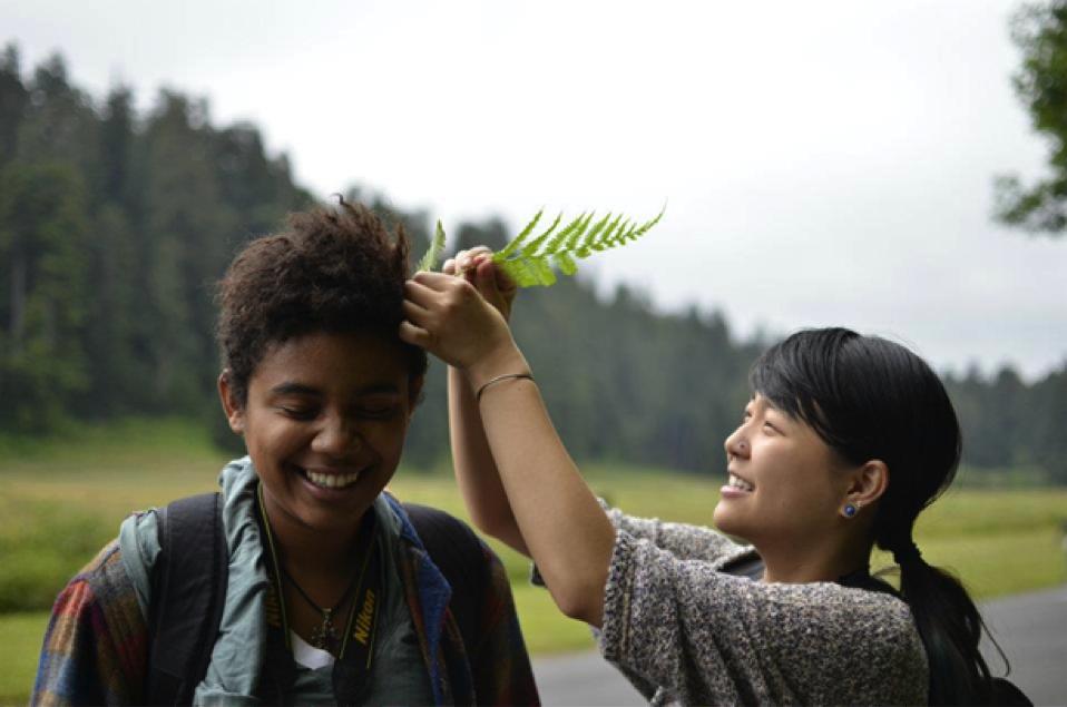 Tera (left) and Christine (right)  Photo by Shamir Kansakar, 2012