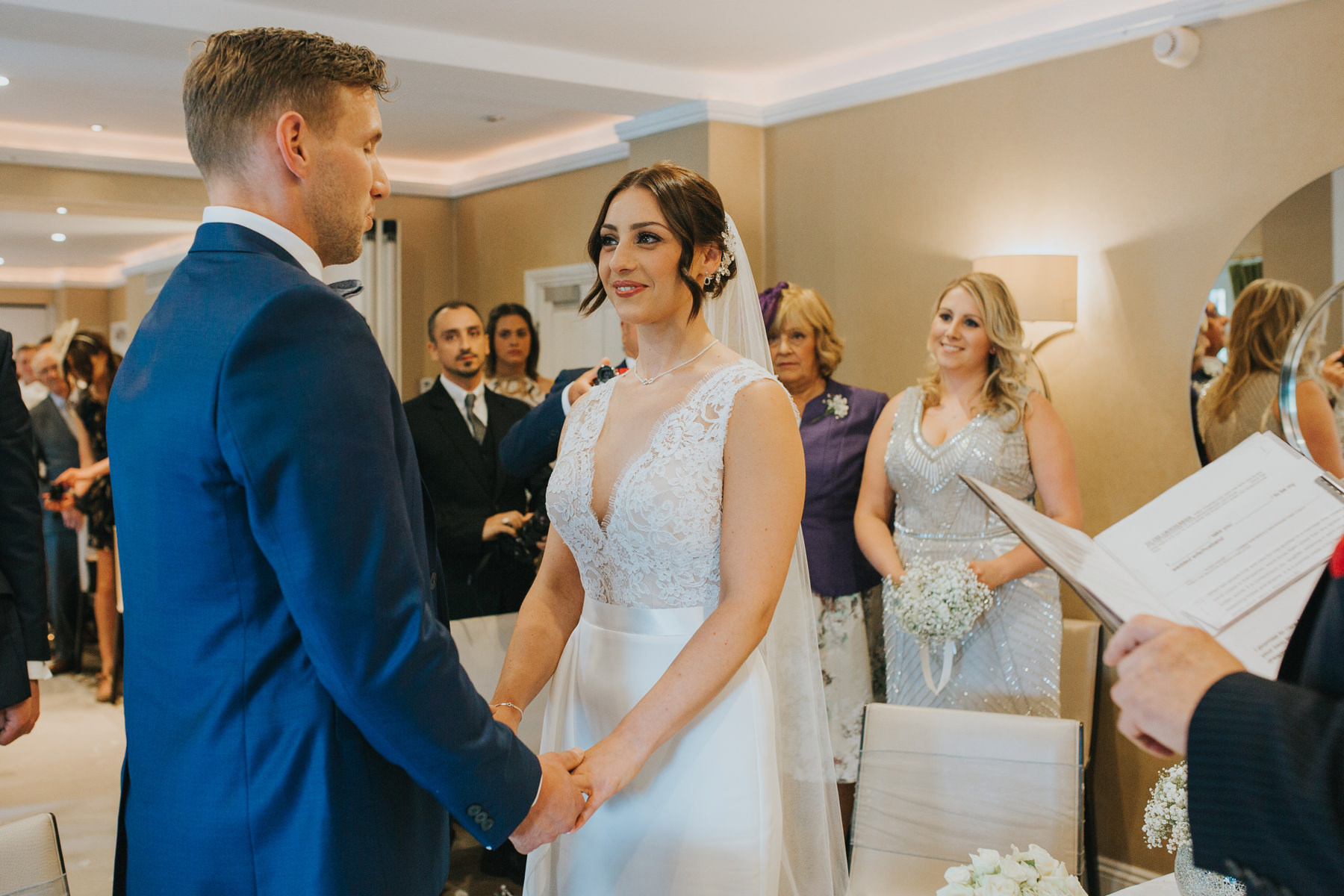 Richmond The Bingham Wedding Photographer London--groom bride ceremony exchanging rings-CRL-155.jpg