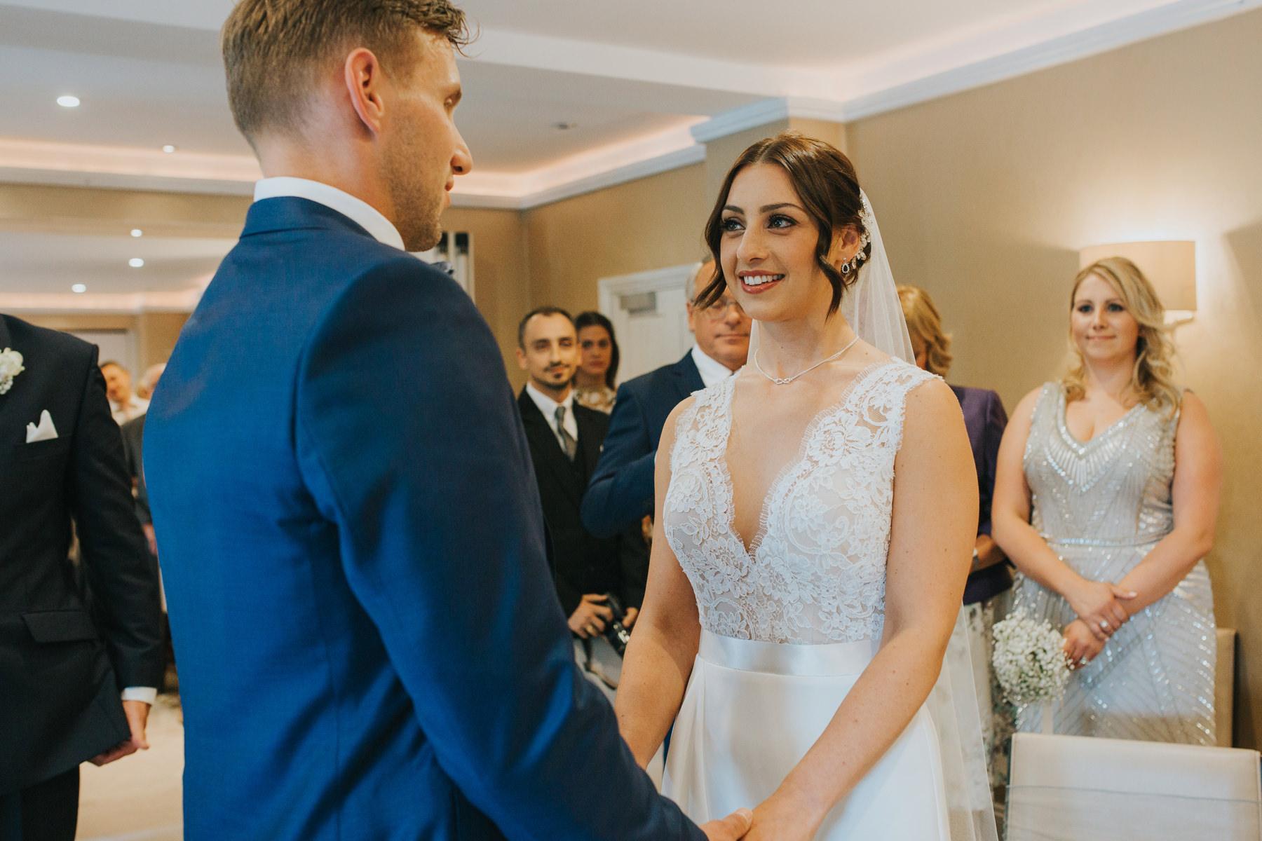 Richmond The Bingham Wedding Photographer London--groom bride ceremony exchanging rings-CRL-157.jpg