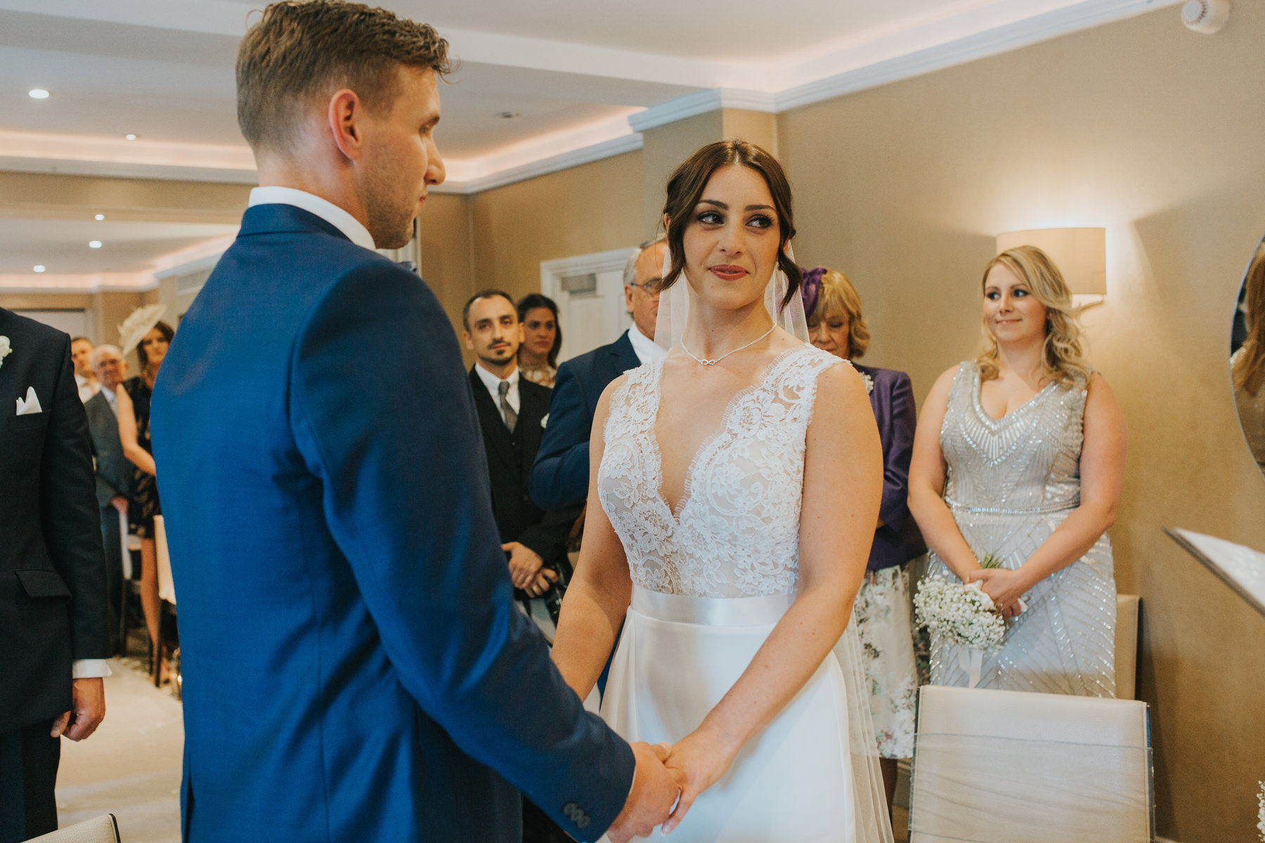 Richmond The Bingham Wedding Photographer London--groom bride ceremony exchanging rings-CRL-159.jpg