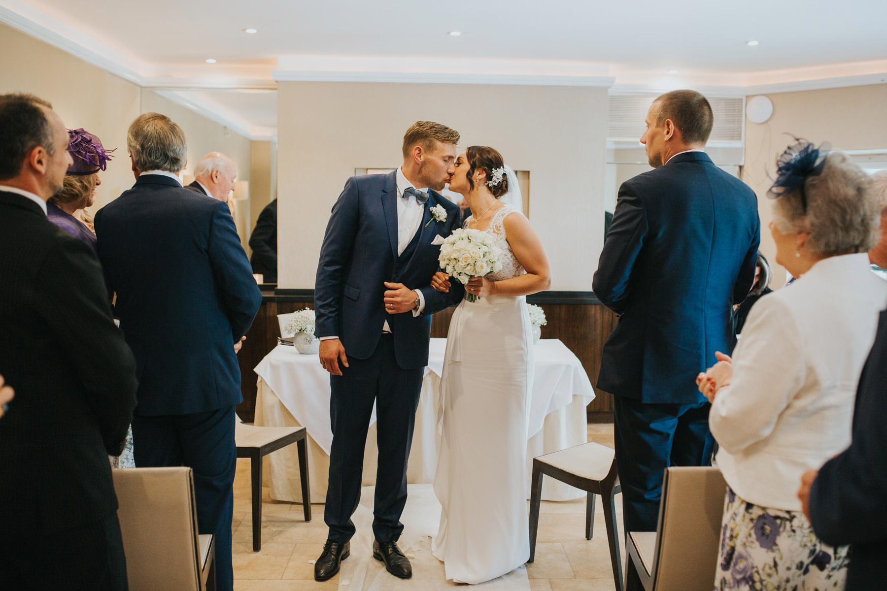 Richmond London Wedding Photographer--coming down aisle The Bingham-CRL-210.jpg