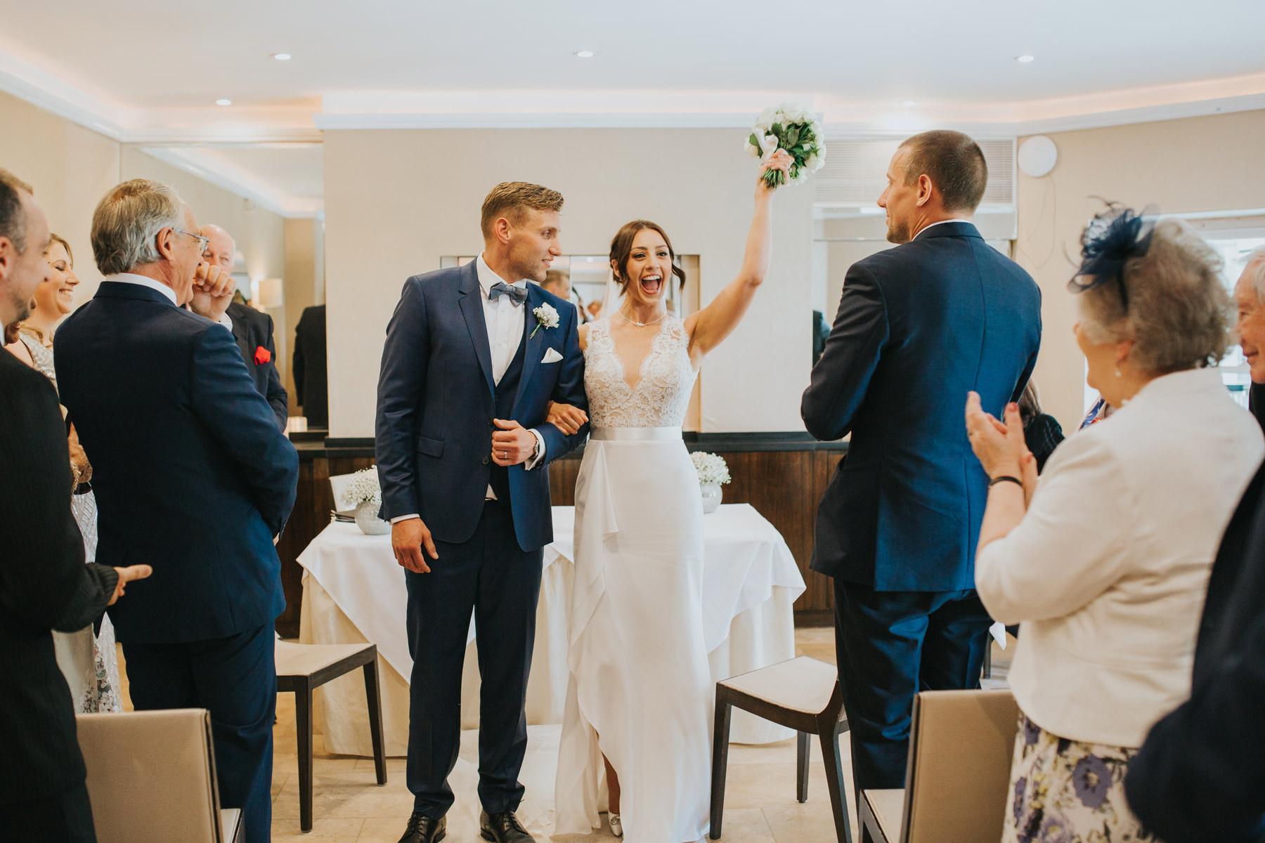 Richmond London Wedding Photographer--coming down aisle The Bingham-CRL-207.jpg