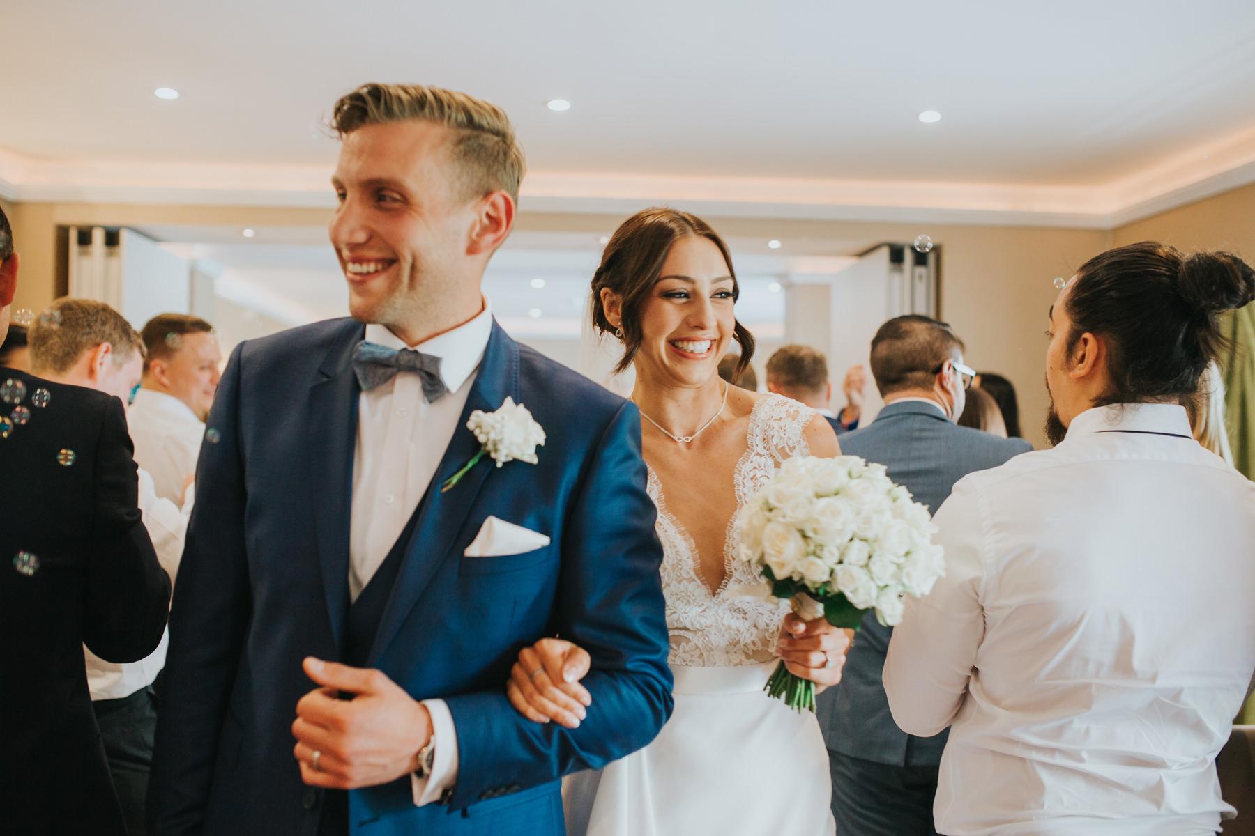 Richmond London Wedding Photographer--coming down aisle The Bingham-CRL-214.jpg