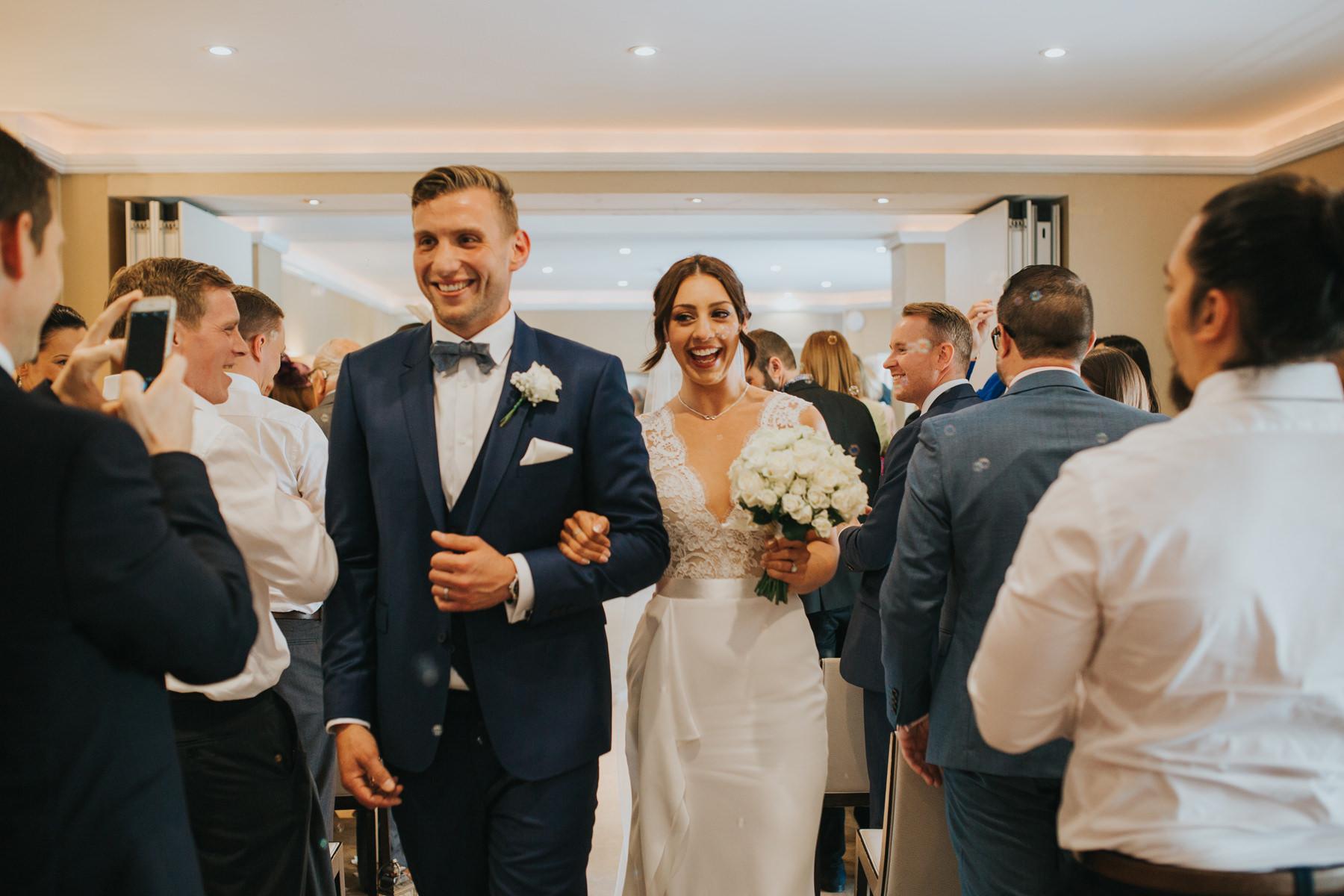 Richmond London Wedding Photographer--coming down aisle The Bingham-CRL-213.jpg