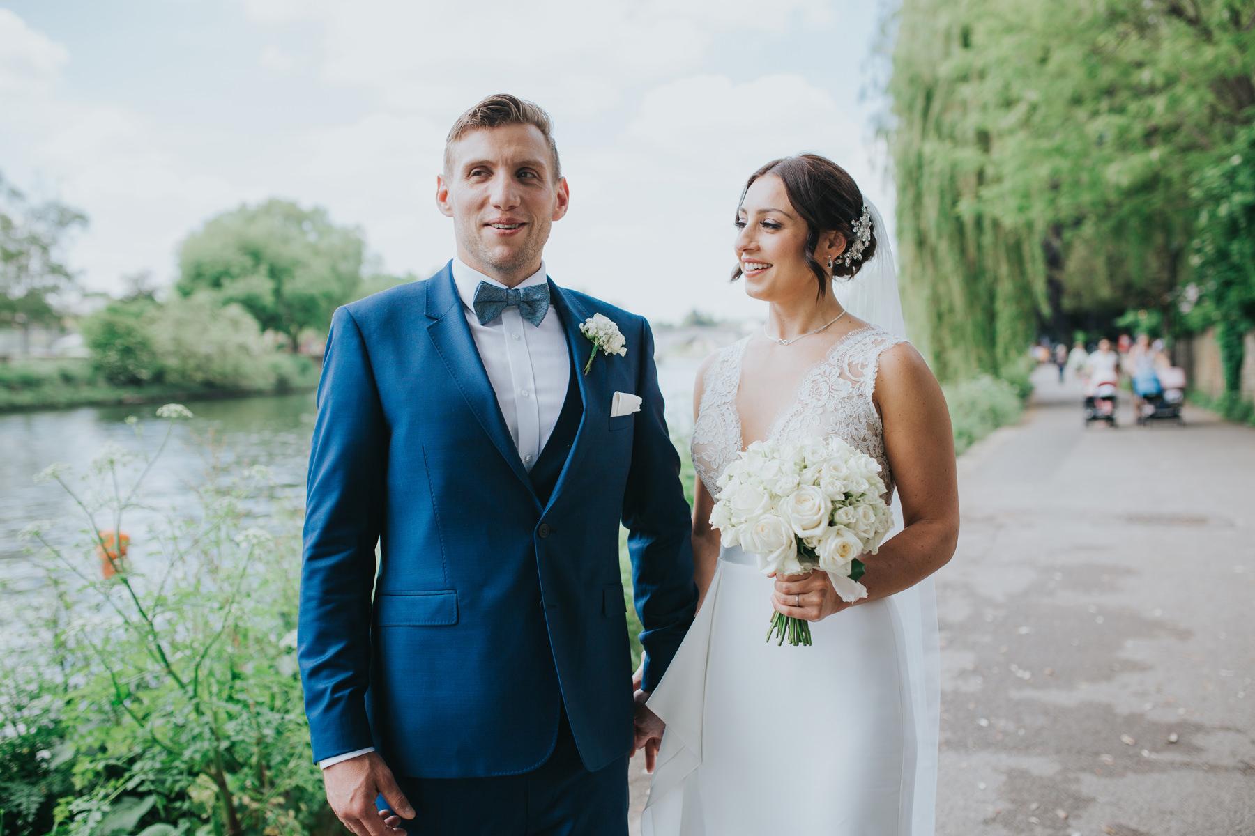 CRL-379-The Bingham wedding Richmond-Claire Rob bridal couple portraits on Thamespath.jpg