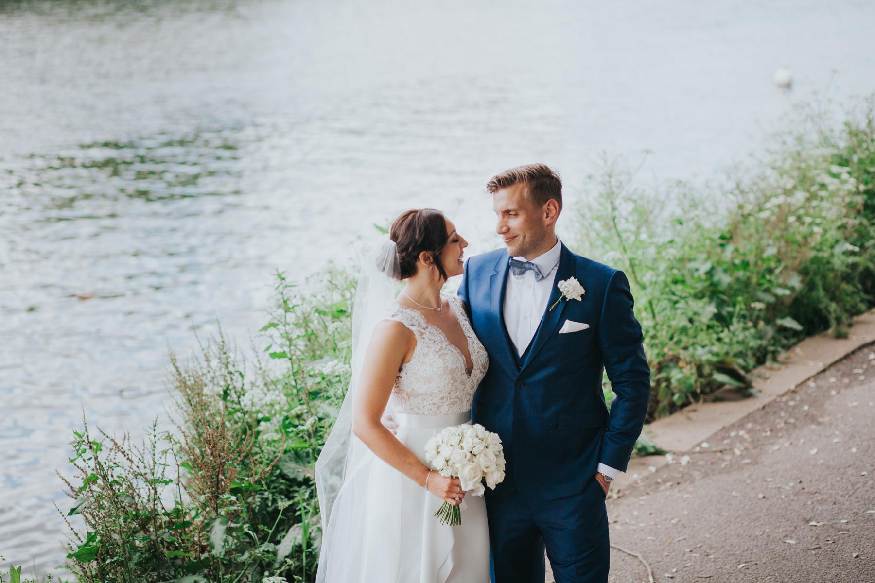 CRL-405-The Bingham wedding Richmond-Claire Rob bridal couple portraits on Thamespath.jpg