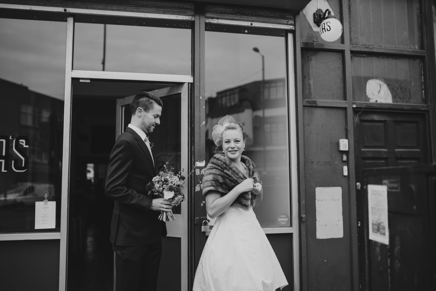 MS-Londesborough-Pub-wedding-Hackney-alternative-photographer-68-bride-groom-outside-Ritas-London.jpg