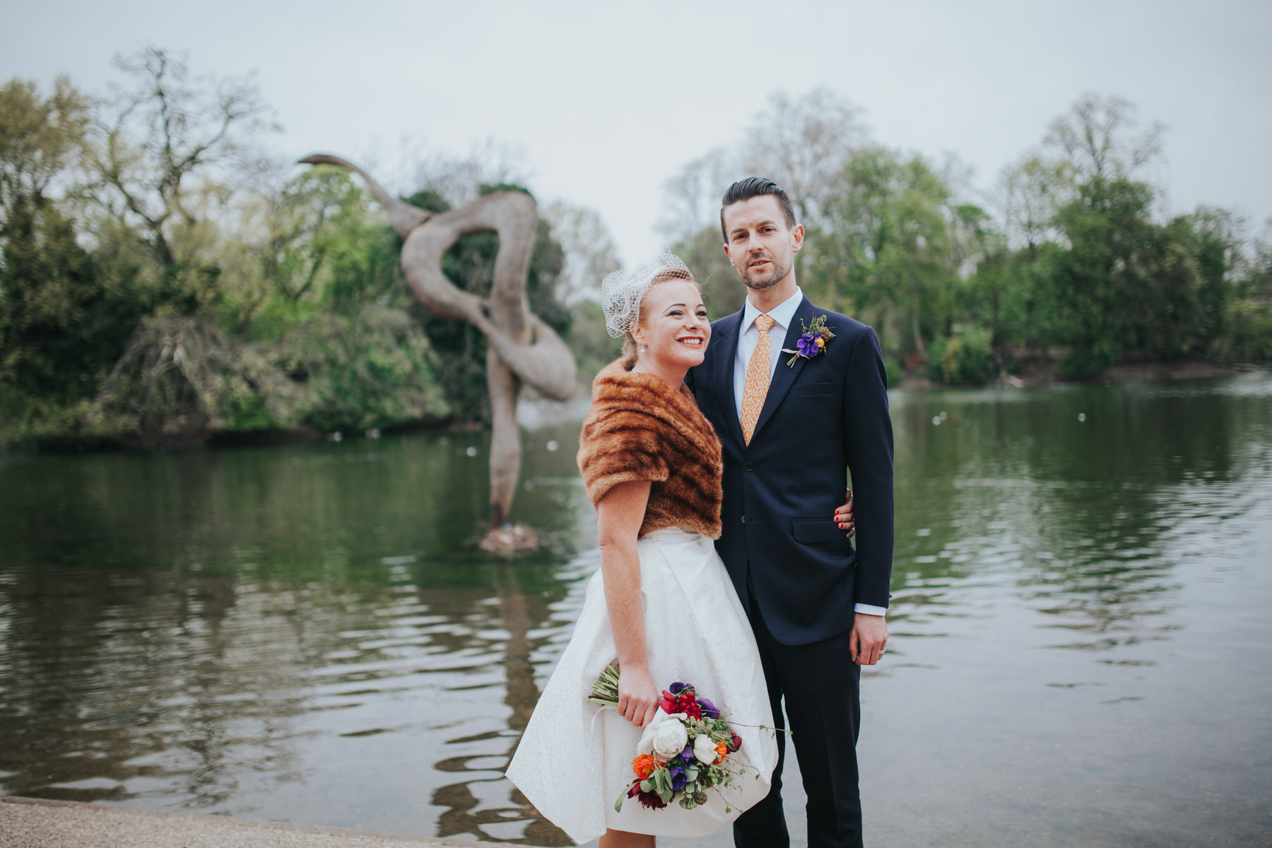 MS-Londesborough-Pub-wedding-Hackney-alternative-photographer-154-just-married-quirky-bride-groom-lake-Victoria-Park.jpg