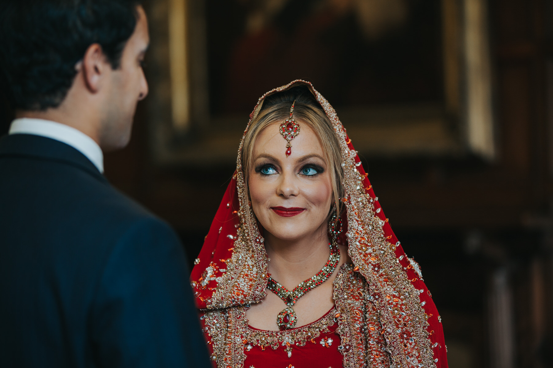 84-Anglo-Asian-London-Wedding-Middle-temple-bride-looking-groom-ceremony.jpg