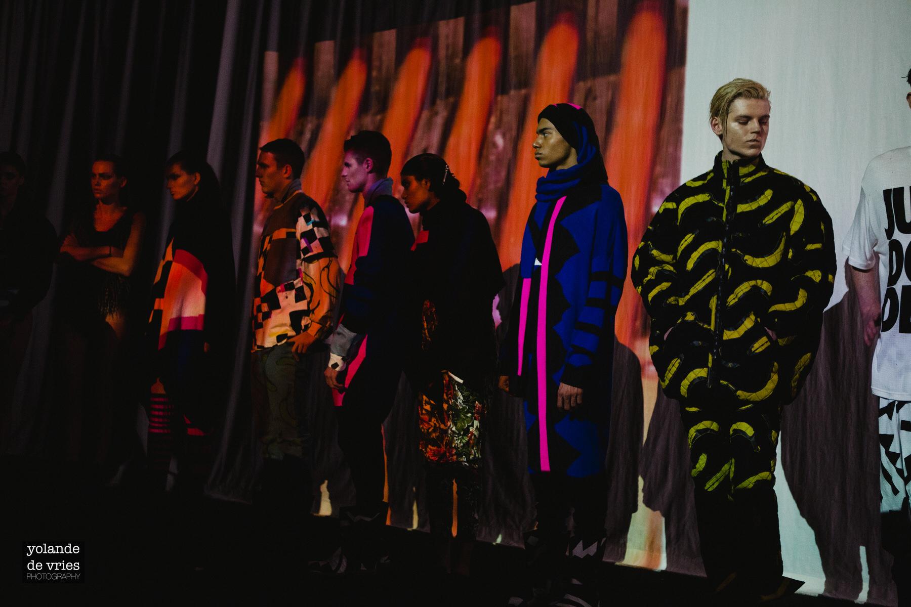 models digital installation London Fashion Week AW11