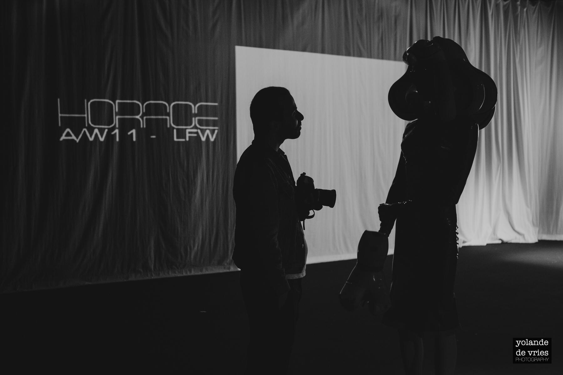 fashion photographer talking to Pandemonia