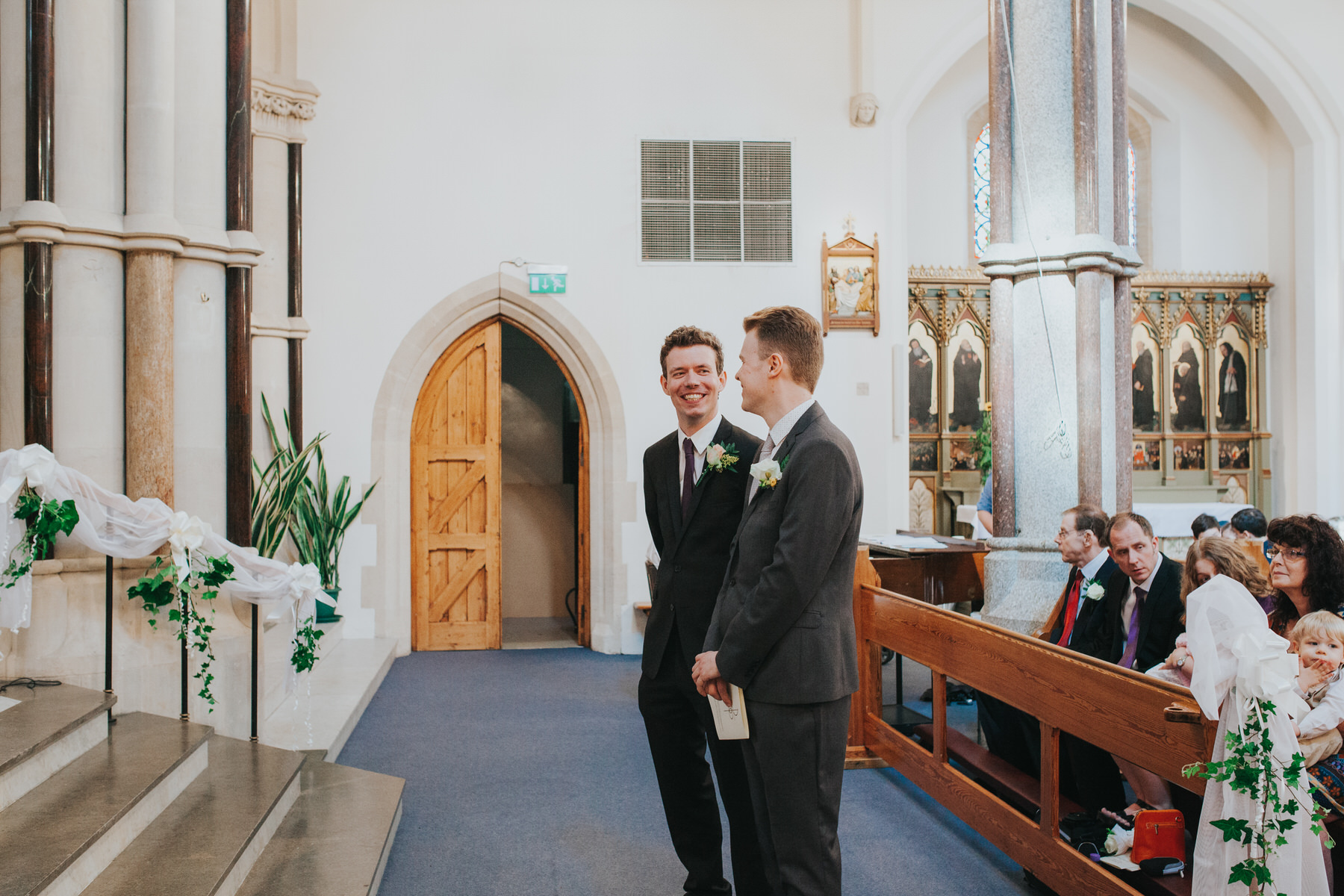 21 groom bestman Fulham Catholic Church wedding.jpg