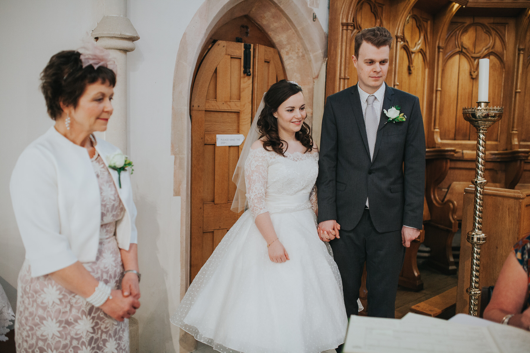 63 bride groom mother Fulham Catholic Church wedding.jpg