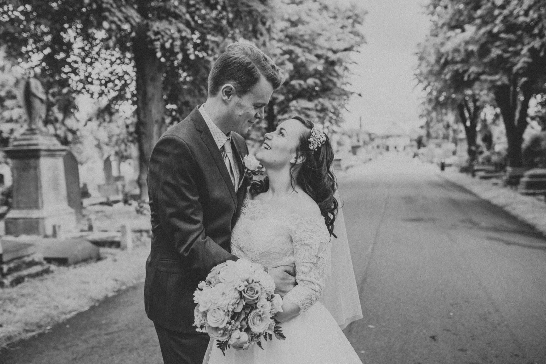 154 BW groom bride wedding portraits Brompton Cemetery.jpg