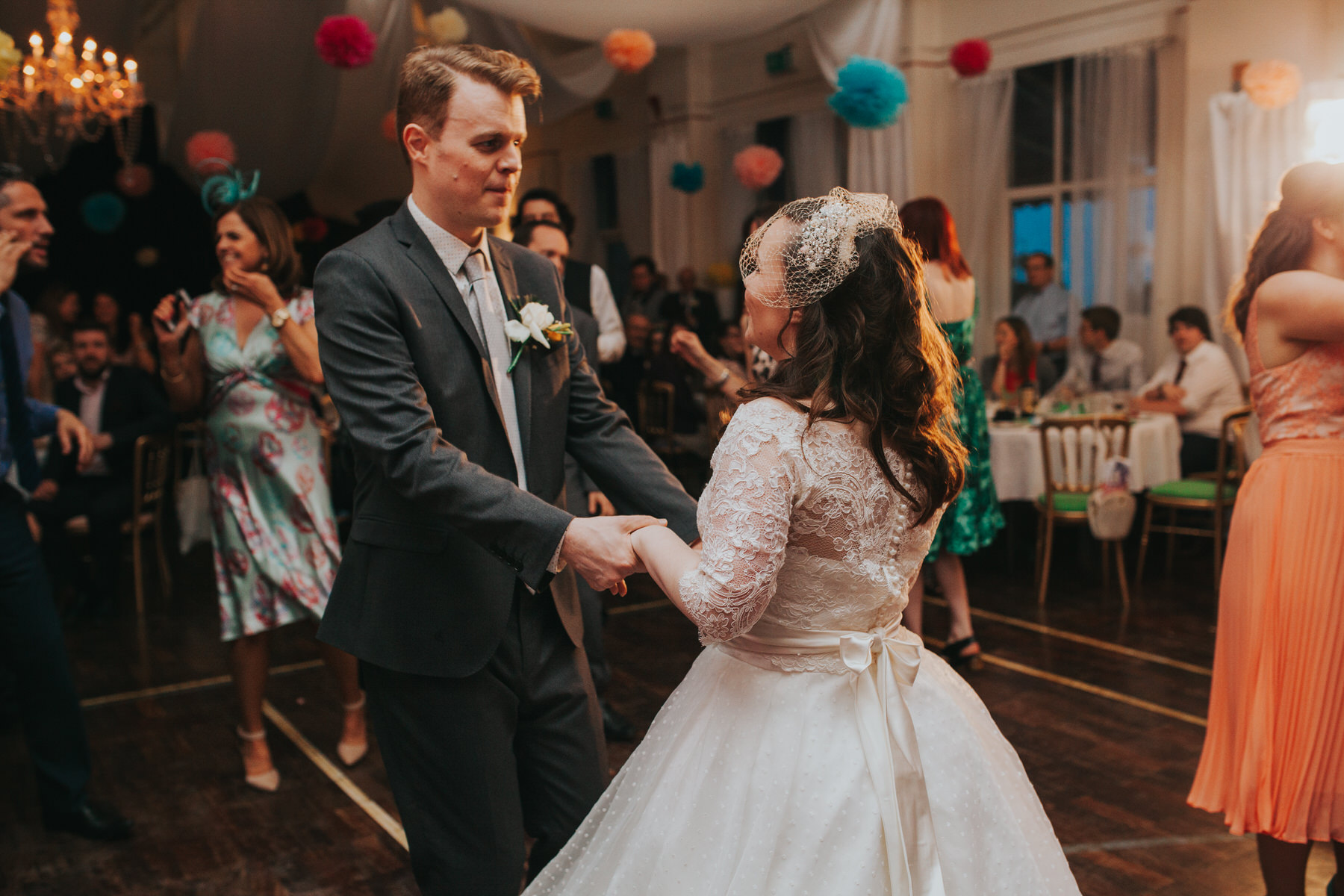 258 first dance school hall wedding reception London.jpg