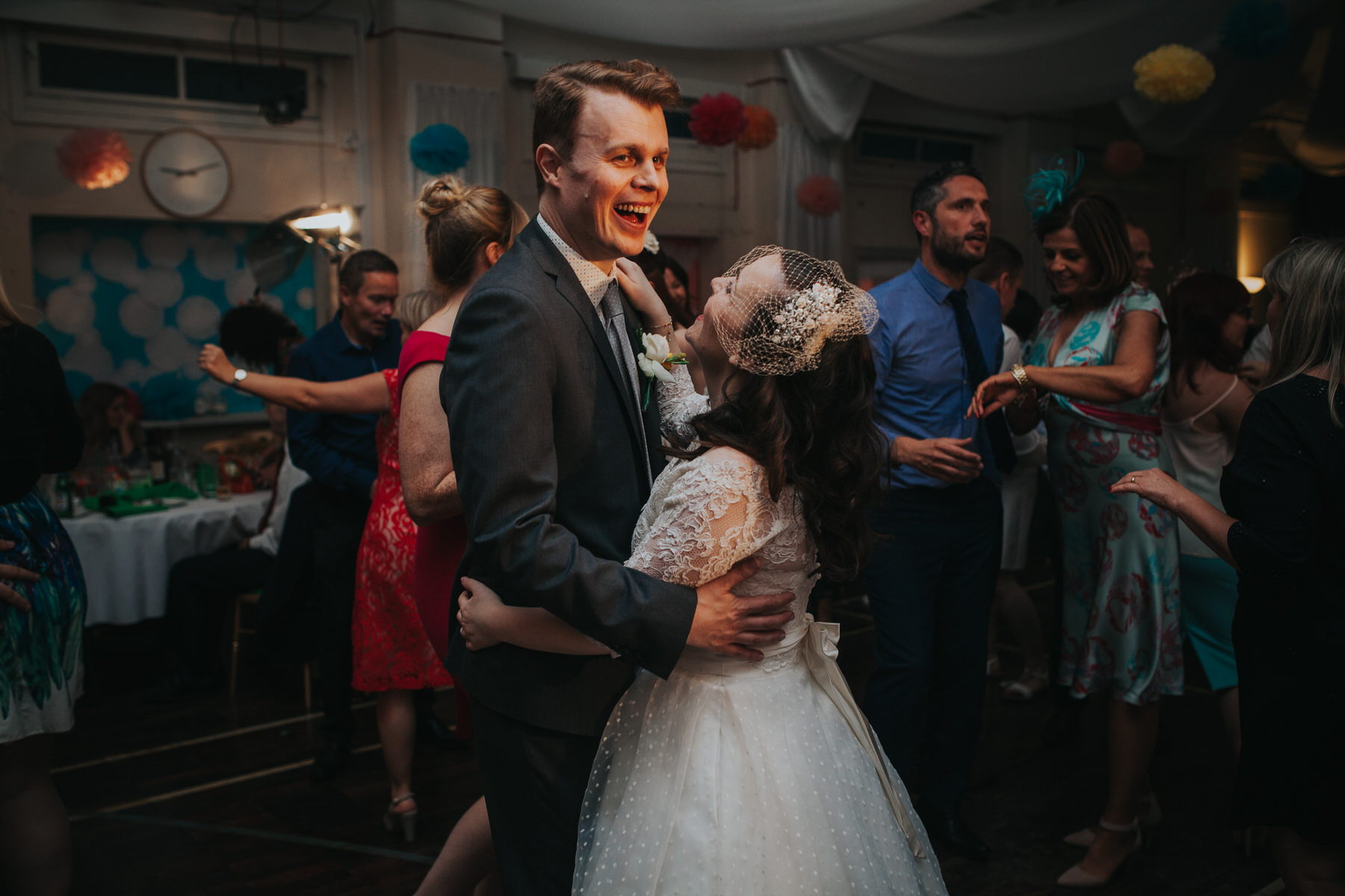 262 first dance school hall wedding reception London.jpg