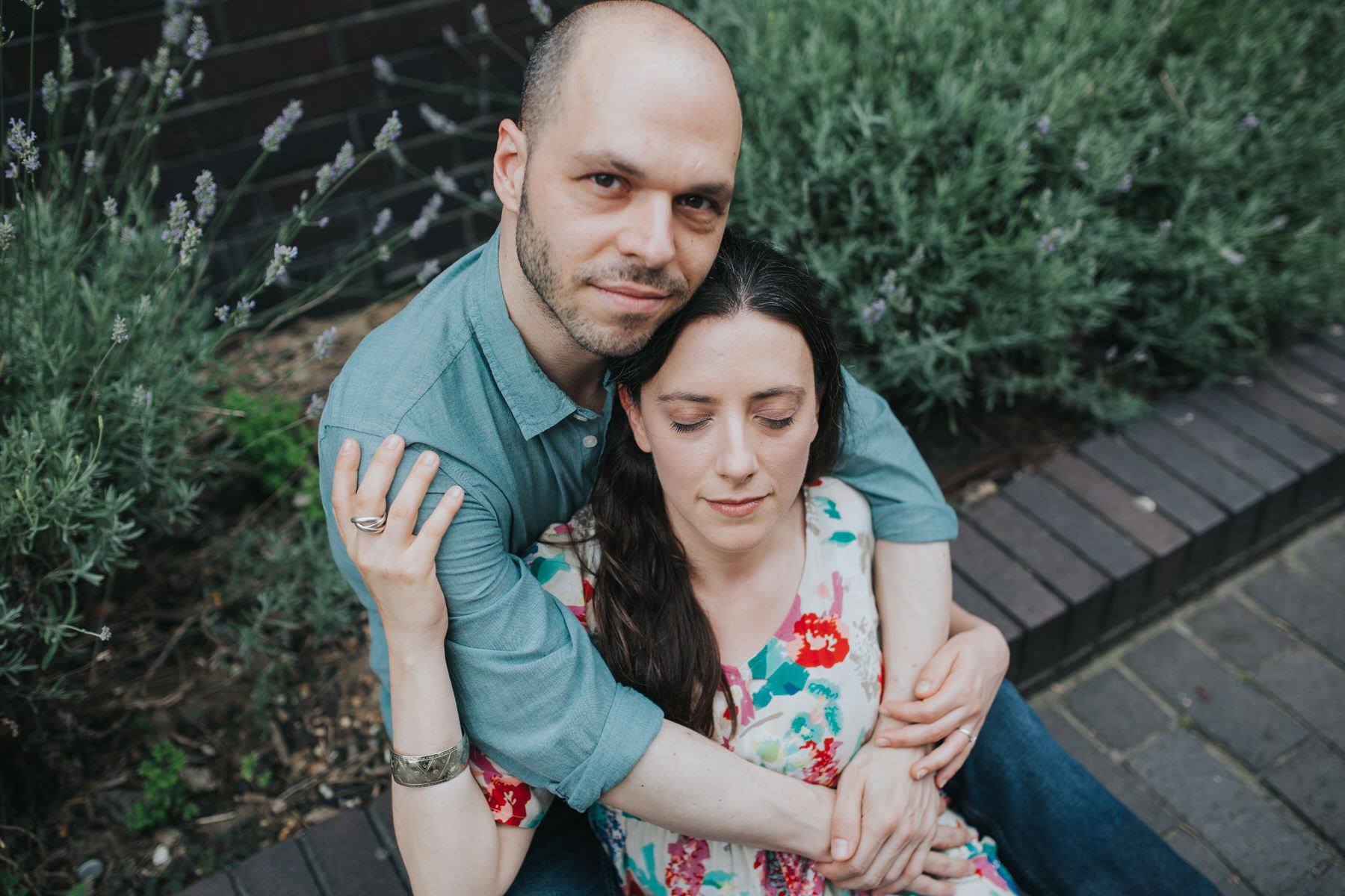 22-couple sitting in lavender bush Southbank engagement session_.jpg