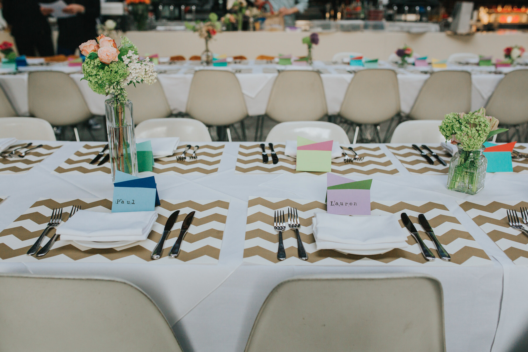2-St Chads Place wedding gold chevron table styling.jpg