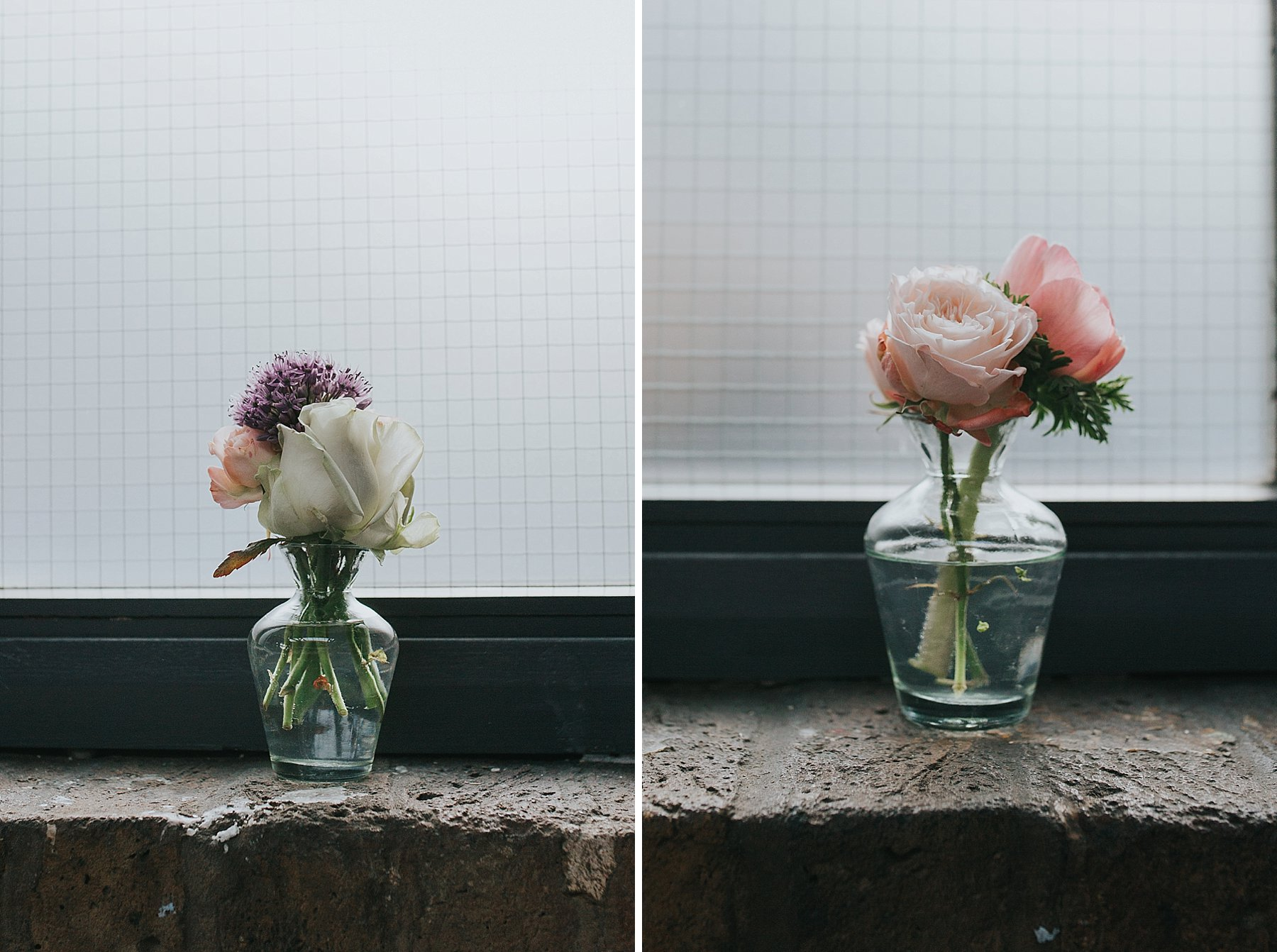 19-St Chads Place wedding rose flower posies in window frame.jpg
