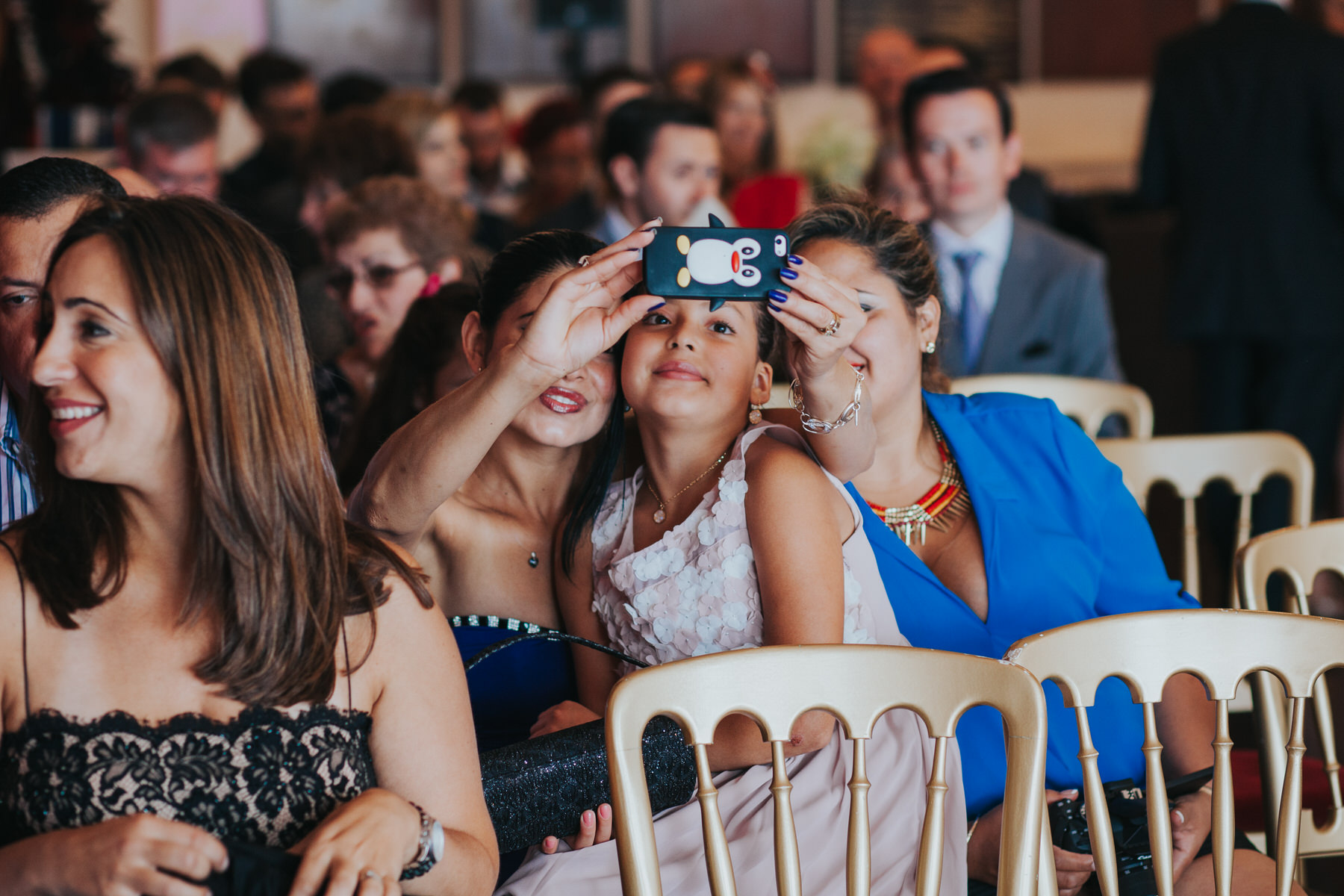 65 Trafalgar Tavern wedding guests selfies.jpg