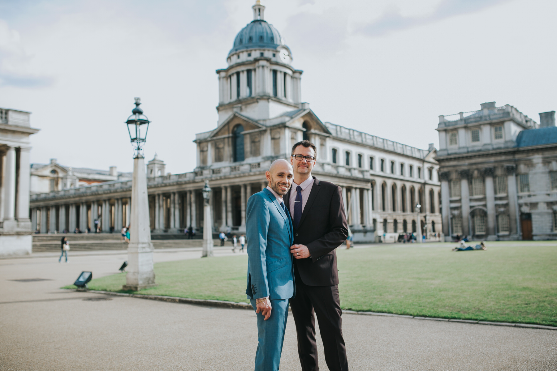 135 handsome gay couple just married Greenwich London wedding portrait.jpg