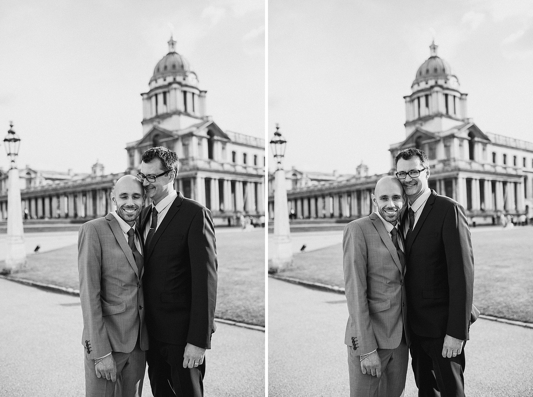 138 two grooms Greenwich Same Sex Wedding portraits BW.jpg