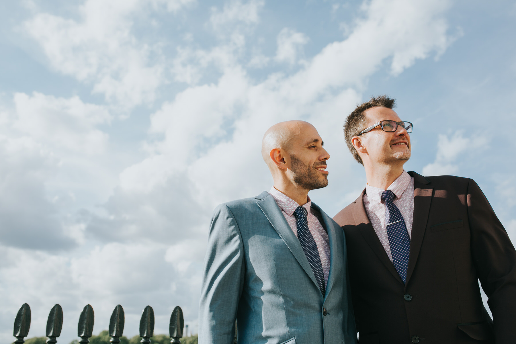 147 Grooms portraits London gay wedding photographer.jpg