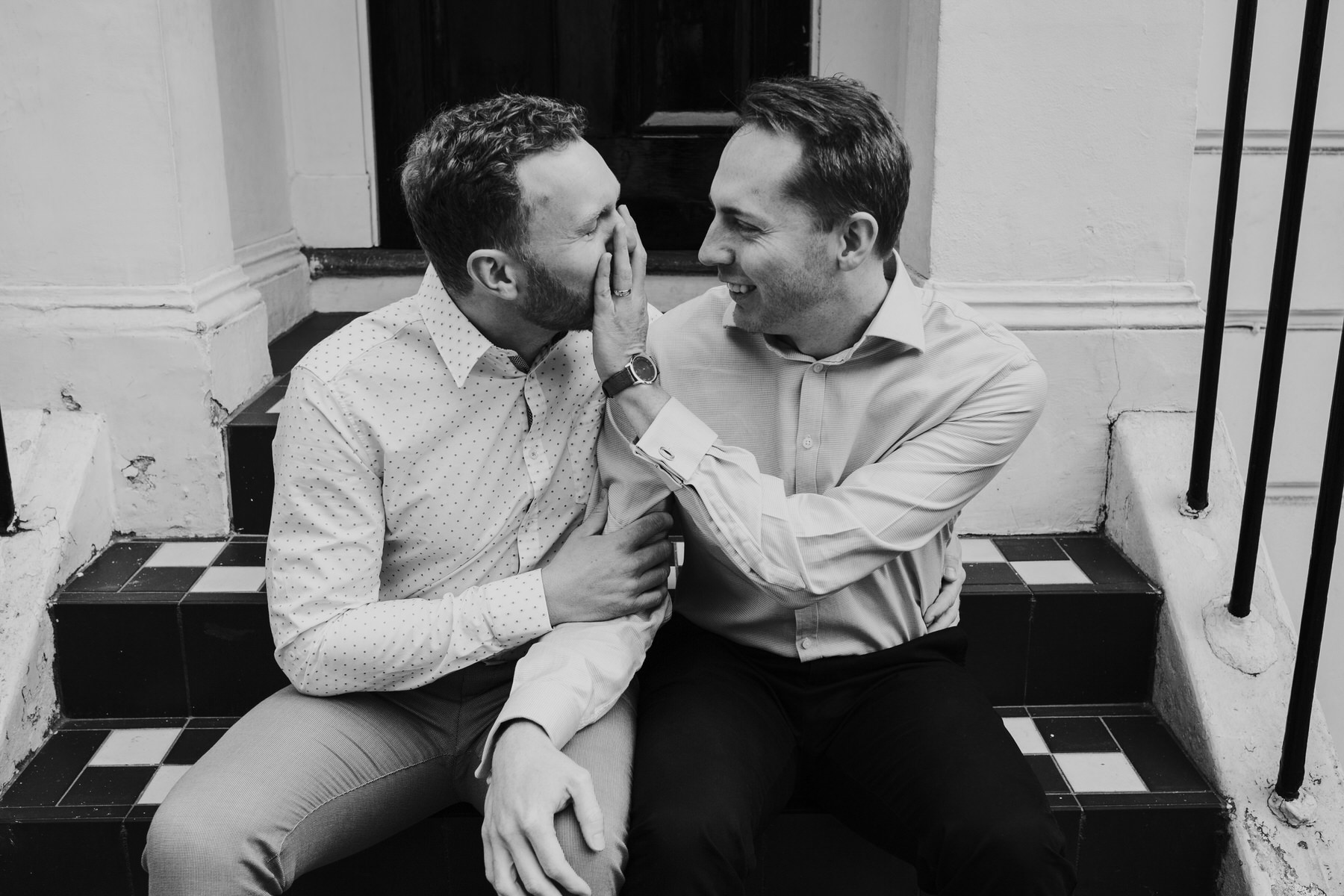 21 same-sex grooms intimate moment after Chelsea Town Hall wedding.jpg