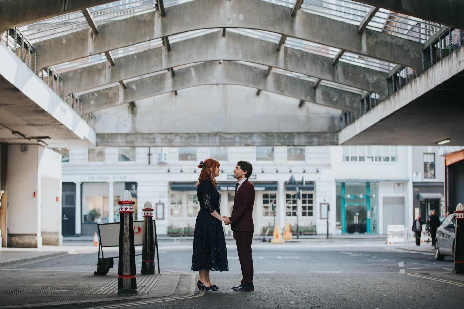 50 unconventional wedding couple Smithfields London architectural.jpg