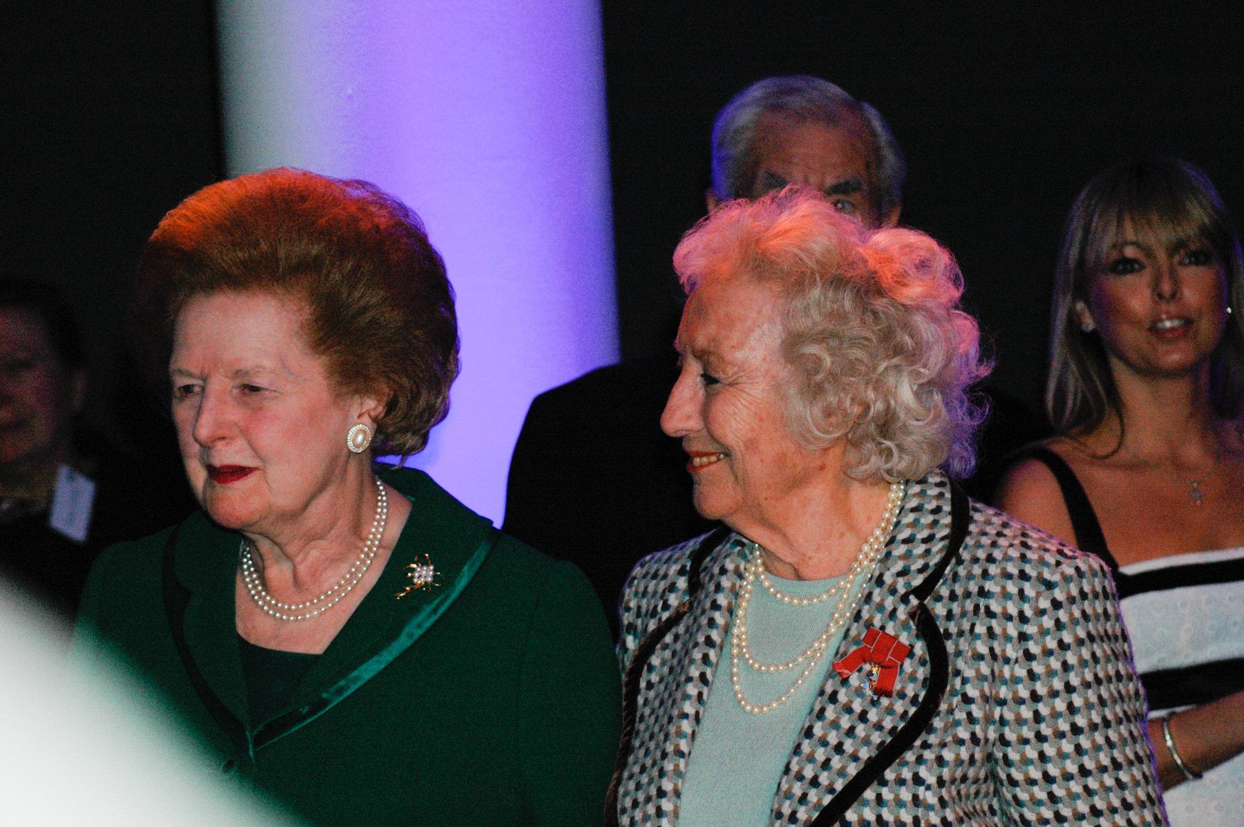 3-Dame Vera Lynn 90th birthday Imperial war Museum Margaret Thatcher.jpg