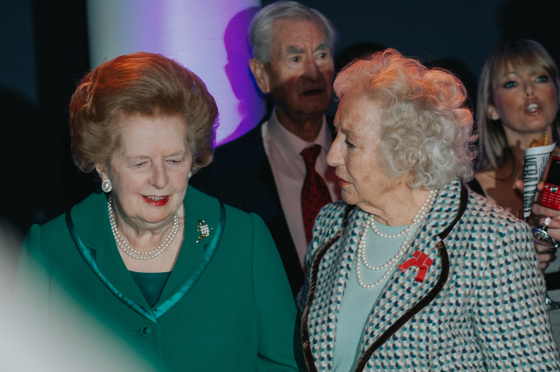 2-Dame Vera Lynn 90th birthday Imperial war Museum Margaret Thatcher.jpg
