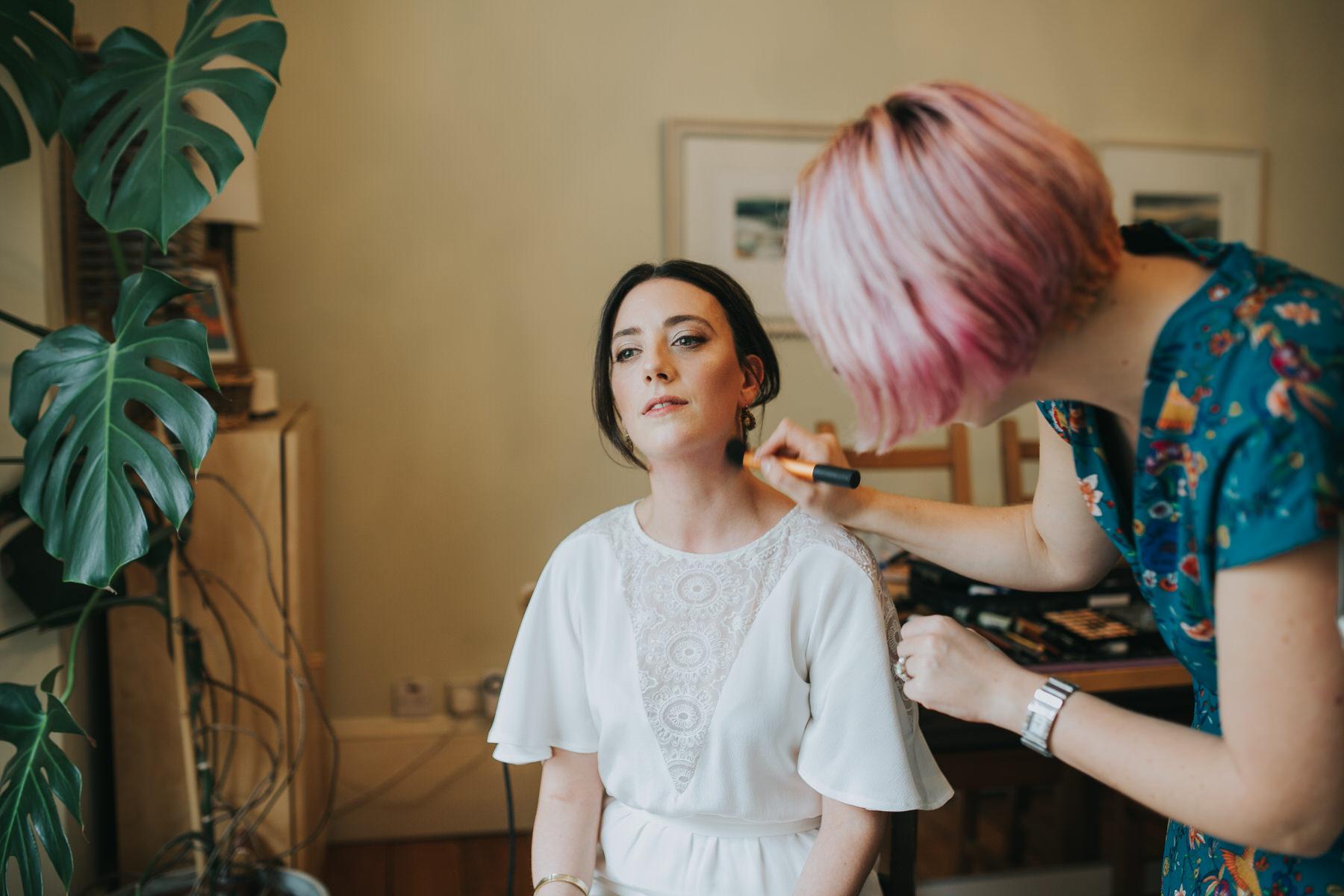 42- last minute makeup bride getting ready Minna wedding dress.jpg