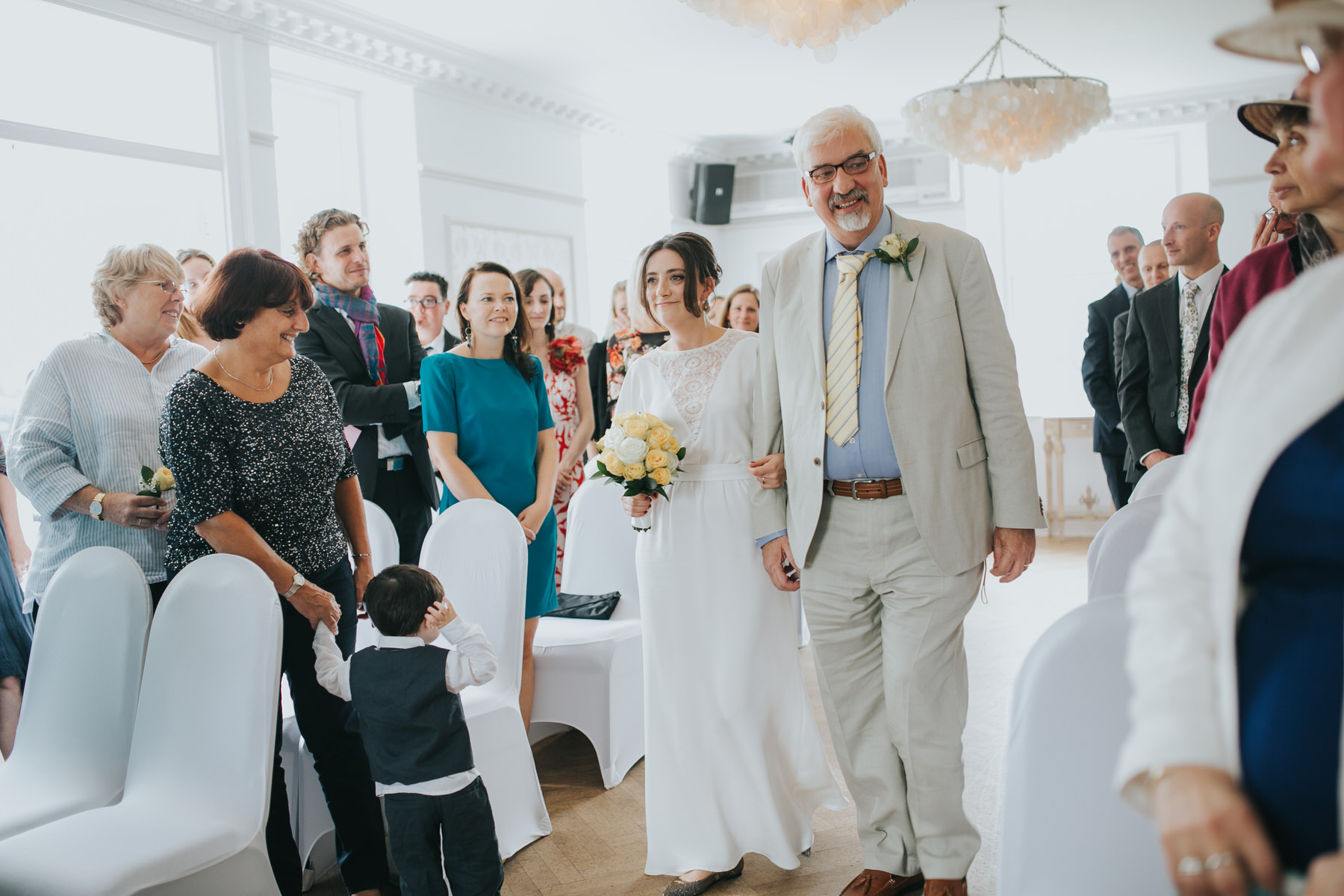 87 bride walking down aisle with father Belair House wedding ceremony.jpg