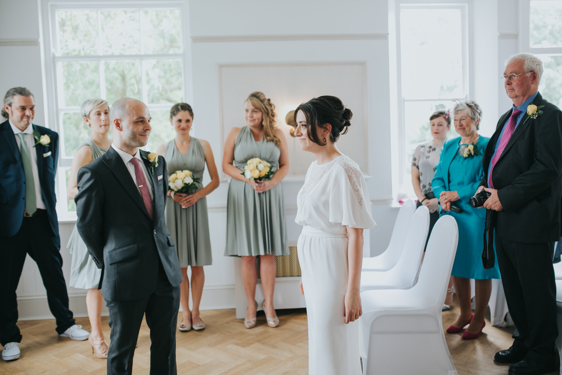 90 London bride sees groom for first time Belair House wedding ceremony.jpg