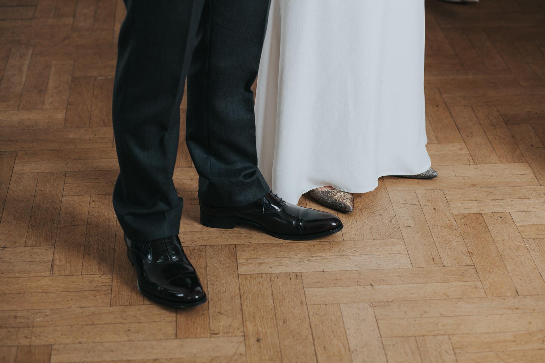 95 bride groom shoe shot parquet floor Belair House.jpg