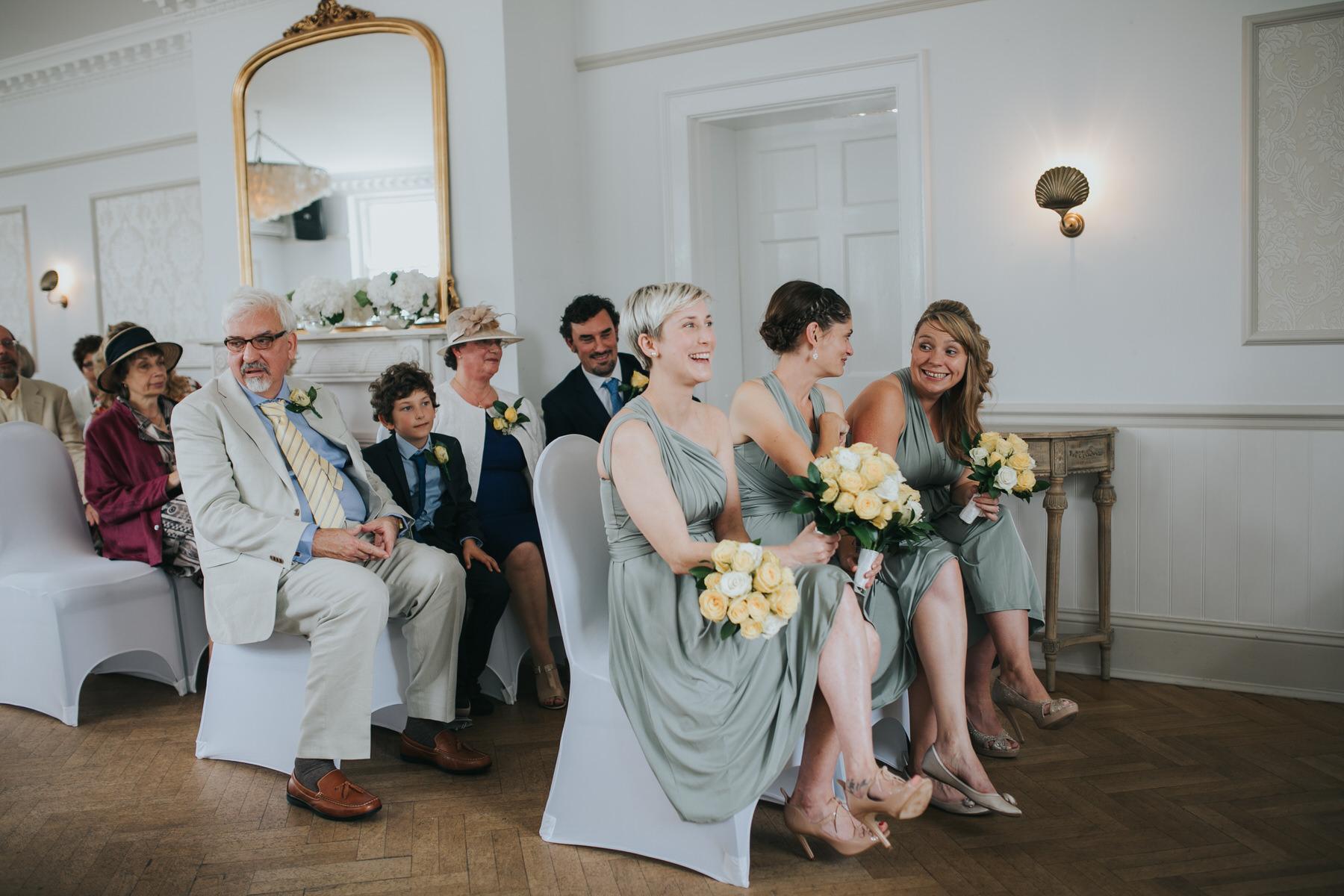109 happy bridesmaids wearing mint dress yellow rose bouquets.jpg