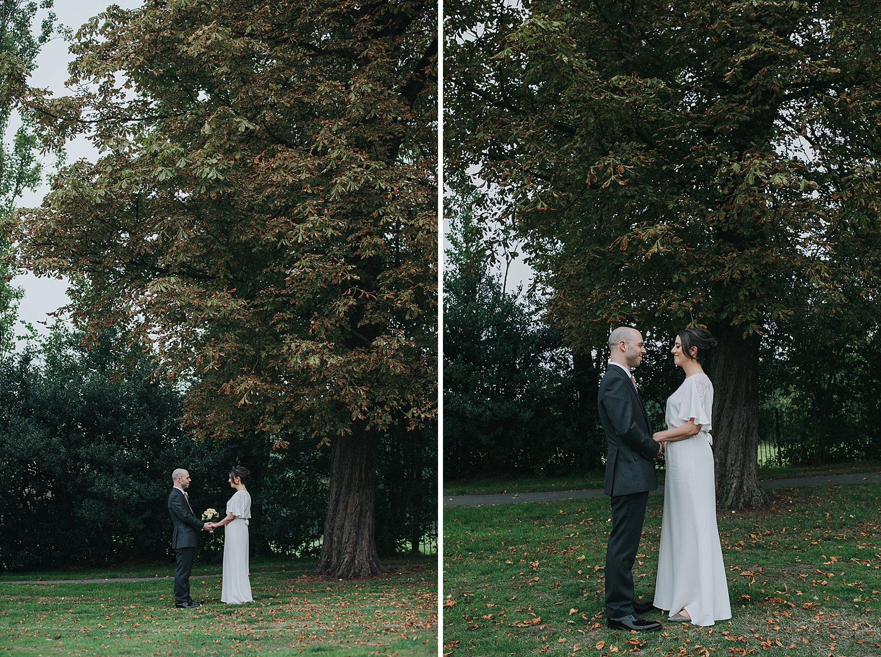 146 Belair Park Dulwich trees wedding alternative portrait.jpg