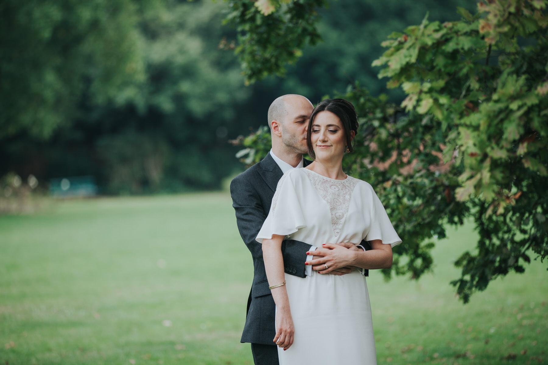 Belair House London wedding couple portraits in park