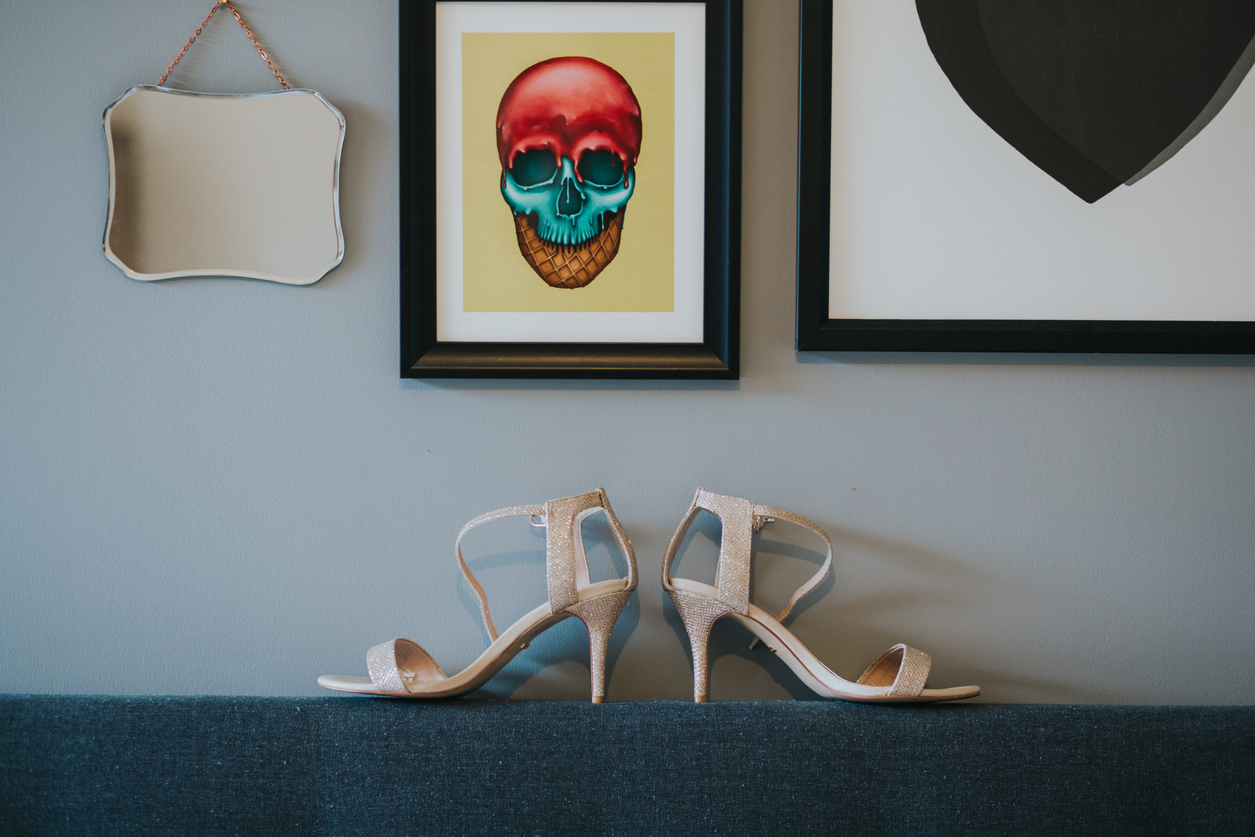 bridal prep wedding sandal detail photo skull photo.jpg