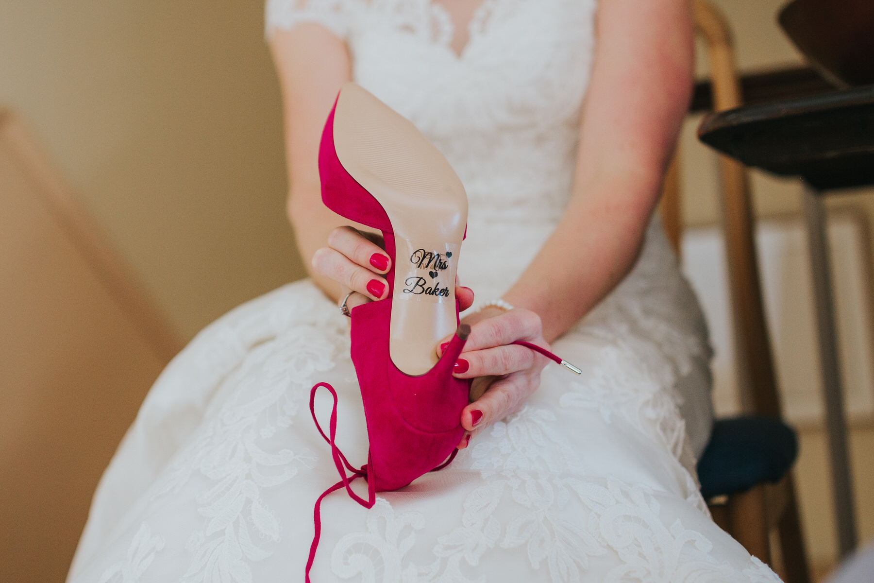 Mrs Baker sticker hotpink wedding shoe sole.jpg
