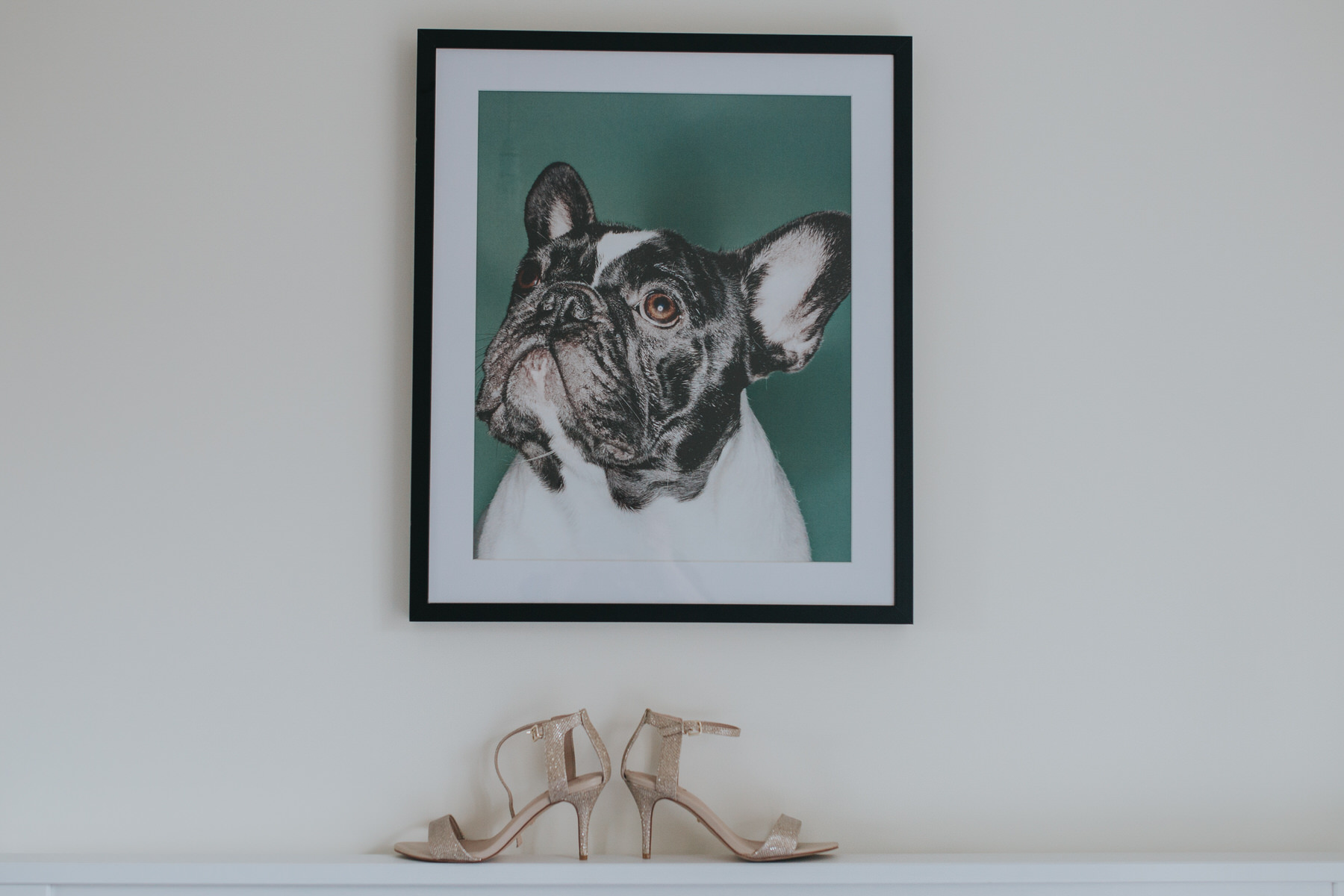 wedding sandal detail photo boston terrier painting background.jpg