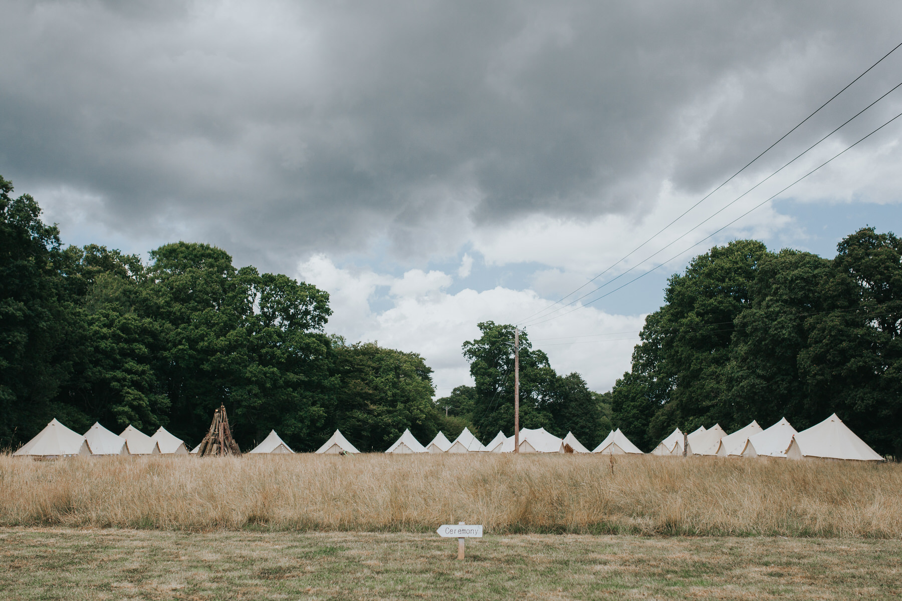 14-Paper Mill Woodland Wedding East Sussex guest tent area.jpg